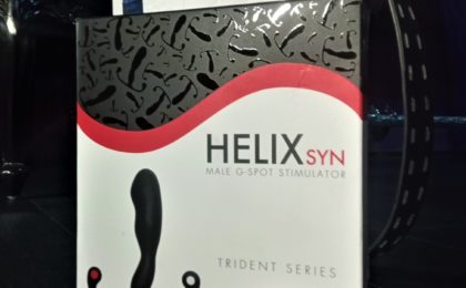 Aneros Helix Syn used for prostate massage pictured in a North East BDSM dungeon